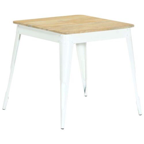 vidaXL Mesa de jantar 75x75x76 cm madeira de mangueira maciça