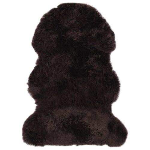 vidaXL Tapete em pele de carneiro 60×90 cm castanho
