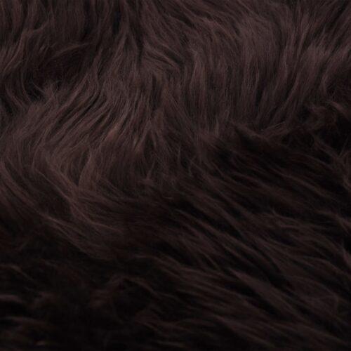 Tapete em pele de carneiro 60×90 cm castanho