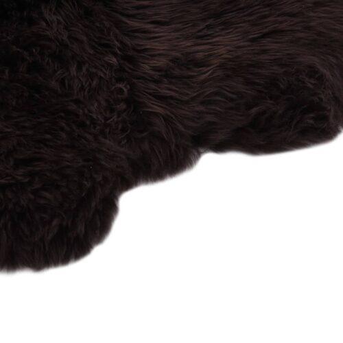 Tapete em pele de carneiro 60×180 cm castanho