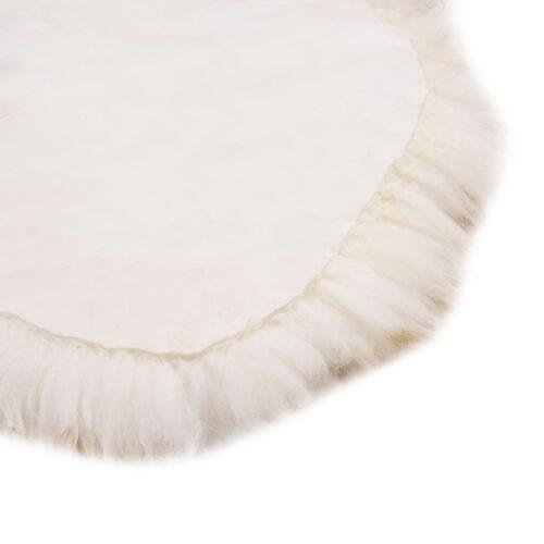 Tapete em pele de carneiro 60×180 cm castanho mesclado
