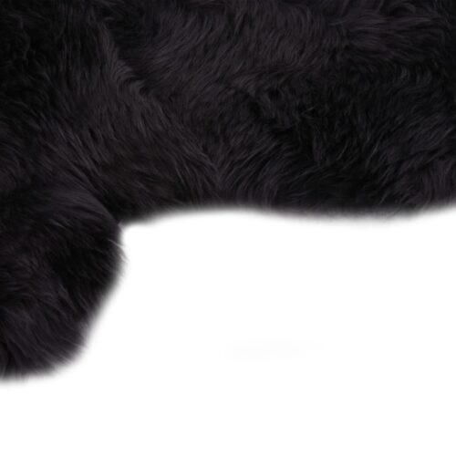 Tapete em pele de carneiro 60×180 cm cinzento-escuro