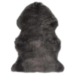 vidaXL Tapete em pele de carneiro 60×90 cm cinzento-claro