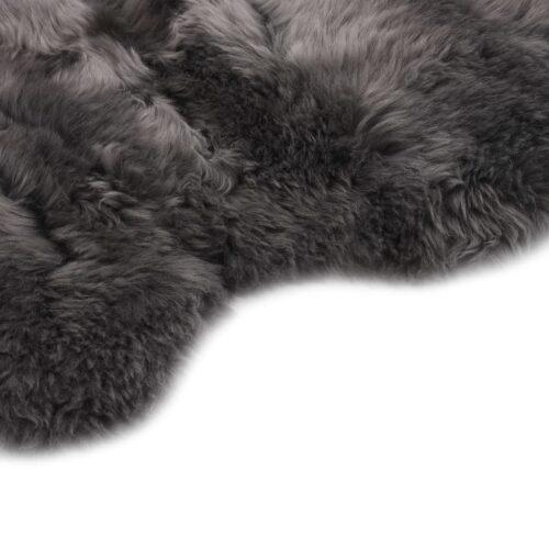 Tapete em pele de carneiro 60×90 cm cinzento-claro