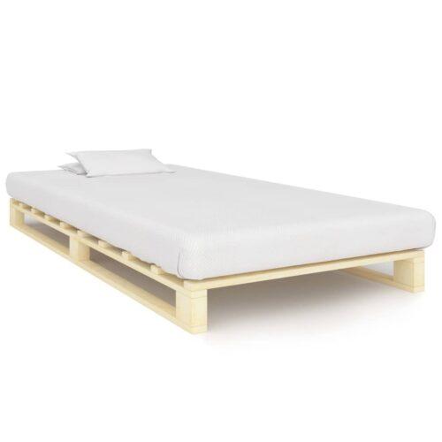 vidaXL Estrutura de cama em paletes pinho maciço 120×200 cm