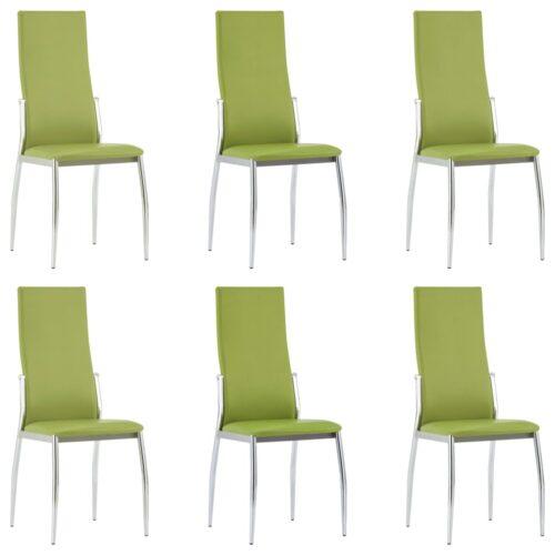 vidaXL Cadeiras de jantar 6 pcs couro artificial verde